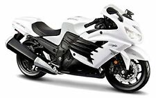 MAISTO 1:12 Kawasaki Ninja ZX 14R 12028 WHITE MOTORCYCLE BIKE DIECAST MODEL
