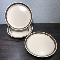 4 MIKASA Spectrum designed by Ben Seibel Café Au Lait 7 1/2 Salad plates Retired