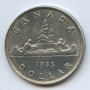 1935 Canada Silver Dollar - Canada's First Issued - No Reserve