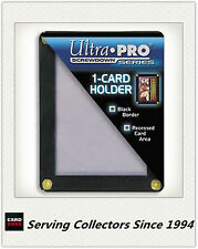 Ultra PRO 1 Card 4- Screw Black Border Screwdowns x6- Standard Trading Card