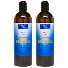 100 Pure Australian EMU Oil Natural Organic Triple Refined -large 32 Ounce Size