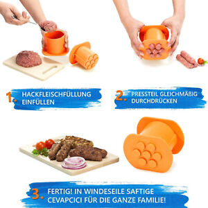 Plastic Sausage Maker Meat Press Squeeze Meat Strips Mold Meat Stick Maker