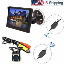 Wireless Car Auto 5 inch Monitor Suction Cup/Dash + Backup Camera Parking System