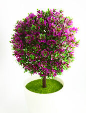 "New 10"" Artificial Plant Lucky Ball Tree Bonsai Potted Plant Green-rose"