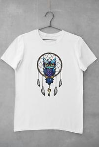 Owl Dream Catcher T-Shirt Birthday Woman Mom Girls Party Personalised Unisex