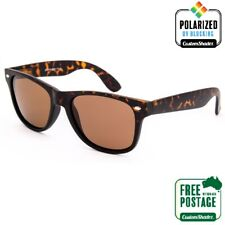 Polarised Retro Sunglasses - Tortoise Shell /Brown - Gloss Finish- Mens / Womens