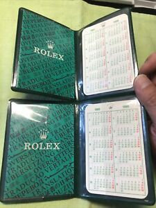 Rolex 1985 Guarantee paper hold; Booklet;calendar card. F (Submariner; GMT ; .)