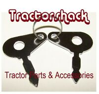TRACTOR PAIR OF IGNITION KEYS FOR MASSEY, UNIVERSAL LUCAS TYPE *