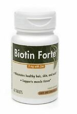 PhytoPharmica Biotin Forte, 3mg with Zinc, Tablets, 60 ea (Pack of 2)