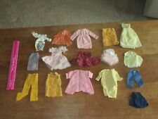 VINTAGE 1960'S FASHION DOLL 16 PIECE CLOTHING LOT DRESSES SHIRTS METAL SNAPS