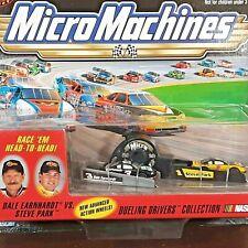 Vintage Micro Machine NASCAR #3 Dale Earnhardt vs #1 Steve Park Dueling Drivers