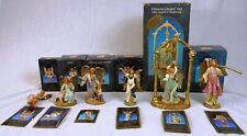 """6 Fontanini 5"""" Nativity Figurines w/Story Cards: Gloria & Other Angels"""