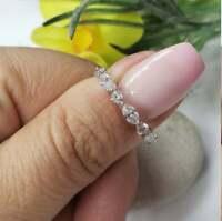 2Ct Marquise Cut VVS1 Diamond Half Eternity Wedding Band 14K White Gold Finish