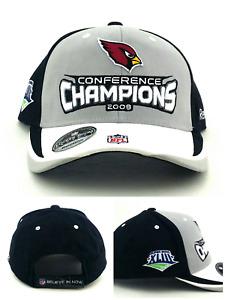 Arizona Cardinals New Reebok Super Bowl XLIII Locker Room Gray Black Era Hat Cap