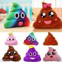 Emoji/Poo Emoticon Shape Smiley Pillow Stuffed Plush Toy Doll Cushion Home Decor