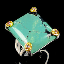 Vintage Natural Turquoise 925 Sterling Silver Ring Size 9/R117059
