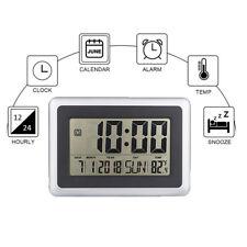 LCD Digital Large Wall Clock Thermometer Calendar Clock Home Temperature Meter