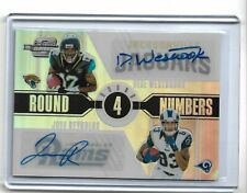 2017 Panini Contenders Optic football dual auto Dede Westbrook & Josh Reynolds