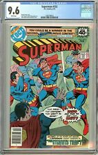 Superman #332 CGC 9.6 White Pages 1266190016 (1979)