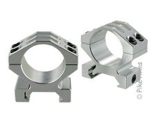 """PIKE ARMS SCOPE RINGS FOR 1"""" DIAMETER TUBE PICATINNY OR WEAVER RAILS - CLEAR"""