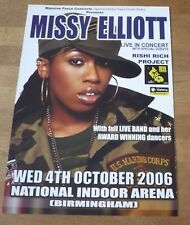 MISSY ELLIOTT (UK Concert Tour Flyer) 2006