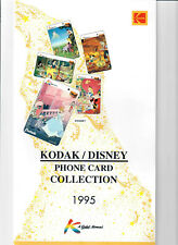 KODAK DISNEY phone card collection 5 carte telefoniche 1995