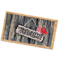 Zerbino cocco welcome 40x70 moderno tappeto entrata esterno retro antiscivolo