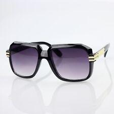 Run DMC Glasses Black Frame Black Lens Sunglasses Hiphop Vintage 607 Nerd