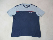 Vintage Tommy Hilfiger Shirt Adult Large Gray B 00006000 lue Color Block Spell Out 90s A10