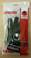 UHLSPORT Gaelic Glove Goalkeeper Goalie Gloves Black Size 5 Kids Medium Large