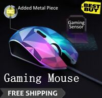 3200DPI Wired Mouse 7 Circular Breathing LED Cool Diamond Version Gaming Mouse
