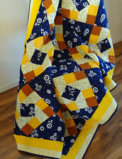 Gold and Blue Queen Quilt