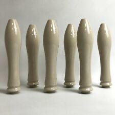 Traditional Style Toilet Flush Handles Beige Glazed Stoneware 23cm Long 301404