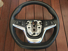 Genuine Holden Vf Commodore Leather Flat Bottom Steering Wheel with buttons