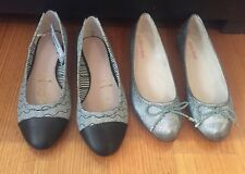 2 X BNWT ladies Shoes size 8 / 39. Flat Style ideal for Work Diana Ferrari