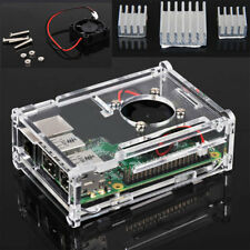 CD2B Transparent Enclosure Case +Cooling Fan + Heatsink For Raspberry Pi B+ E7E3