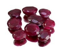 Natural Red Blood Ruby Faceted Loose Gemstones Wholesale Lot Ring Size