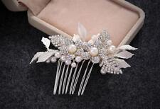 Cristal Vestido de Novia Accesorios Perlas Boda Peineta Diamante Tocado