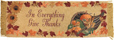 In Everything Give Thanks ~ Fall Autumn Cornucopia Tapestry Table Runner