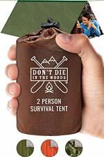 World's Toughest Ultralight Survival Tent • 2 Person Mylar Emergency Shelter + •