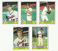 VINTAGE 1979 TOPPS BASEBALL CARDS – SAN FRANCISCO GIANTS - MLB