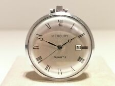 "VINTAGE RARE GERMANY MEN'S MECHANICAL POCKET WATCH ""MERCURY""/MOV. ""JUNGHANS"""