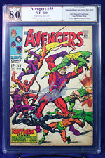AVENGERS #55 (Marvel 1968) PGX (not CGC) graded 8.0 VF 1st Ultron sig STAN LEE !