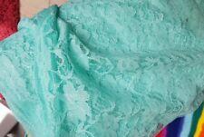 Lace Fabric Jade stunning colour width 140 cm per metre