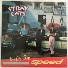"Autographed Stray Cats ""Built For Speed"" Vinyl Lee Rocker & Slim Jim Phantom"