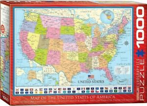 Eurographics 1000 Piece Jigsaw Puzzle - Map of the United States EG60000788