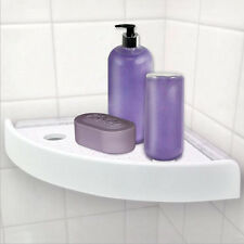 Bathroom Snap Up Corner Shelf Rack Triangle Polymer-Grip Home Storage Organizer