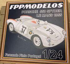 PORSCHE 550 Spyder Le Mans 55 or Targa Florio 56 FPPM 1/24  unbuilt model kit