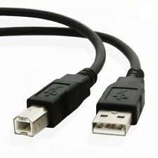 kenable USB 2.0 High Speed Cable Printer Lead A to B (001663) - Black 3m