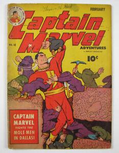 Captain Marvel Adventures Golden Age Comic Book Vol.6 No.32 Fawcett